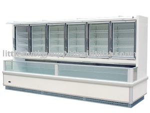 Wall type Multideck Refrigerated Showcase Galss Door
