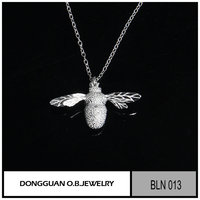 Fashion children bee jewelry/brass material animal necklace with factory price
