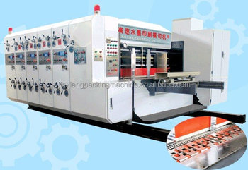 auto feeding corrugated paperboard printing die cutting machine/cardboard printer slotter machine/carton box forming machine