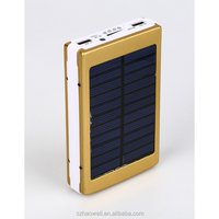 Top Selling 6000mah CE FCC solar Power Bank portable usb charger For Mobile Phones
