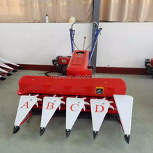 Small tractor mounted power tiller harvester rice/mini rice combine harvester