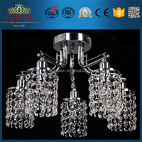 Modern Crystal Ceiling Light With 5