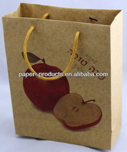 Packing Apple Fruits Custom Gft Brown Paper Bags Wholesale