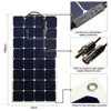 100W Bendable Solar Panel Charger Water/ Shock/ Dust Resistant Power Sunpower Solar Charger for RV, Boat, Cabin, Tent
