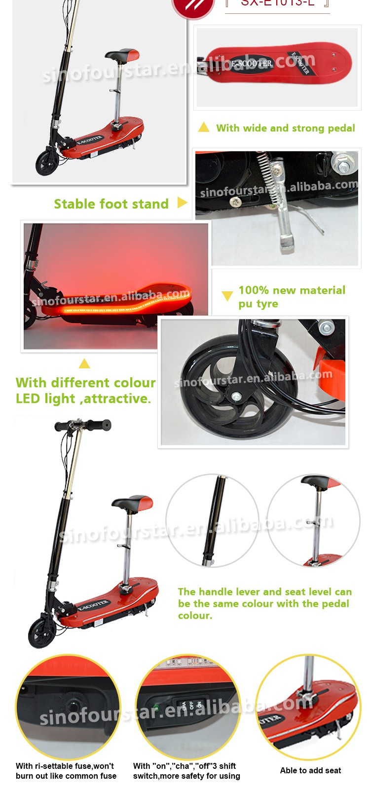 Top selling mini electric scooter price china