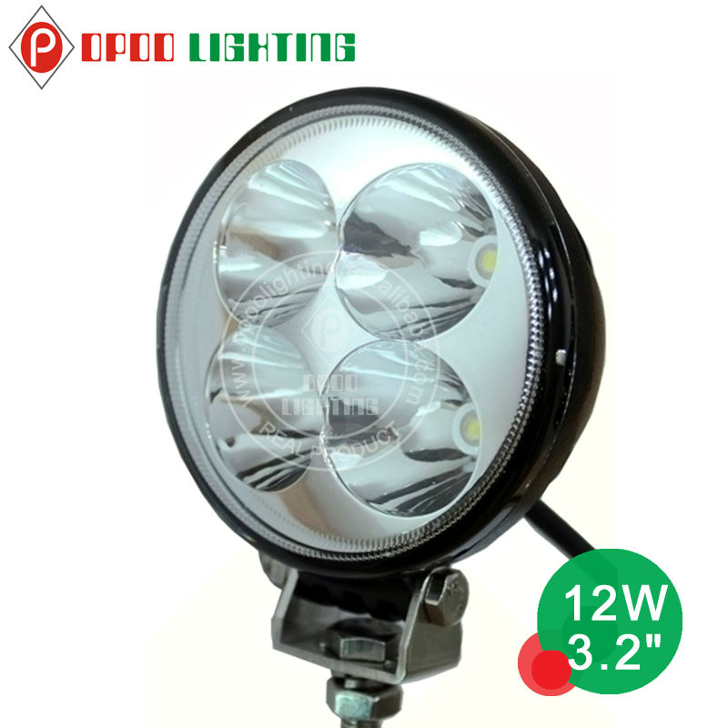 12W 3.2inch Cheap LED Work~Driving Lights for Three Wheel Motorcycle