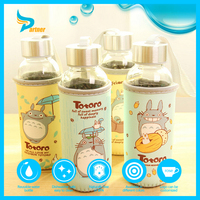 New Product 2016 Healthy Portable Glass Water Bottle Cartoon Children's Gift