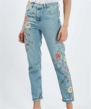 Z92850A 2017 New Style European Women Blue Jeans Pants, Ladies Jeans Top Design European Women Jeans