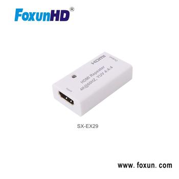 SX-EX29 True HDMI 2.0 Products total 25m when 4k@60hz YUV 4:4:4 HDMI Repeater Amplifier