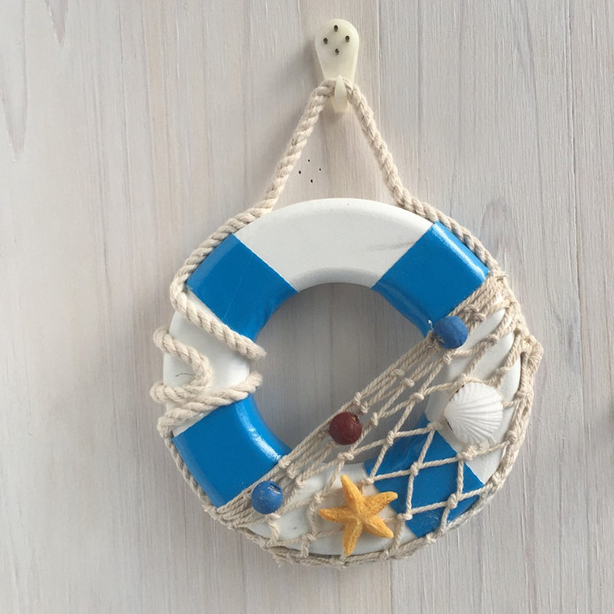 Wooden Mini Life Ring for Door And Wall Hanging Wall Decor