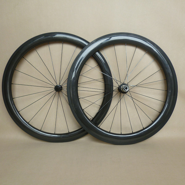 700C 25mm wide combo carbon road wheels clincher 50mm front and 60mm rear powerway <strong>R13</strong> hubs and sapim cx ray spokes