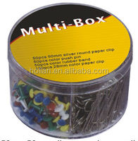 Stationery Tools Multi-Box Pins Clips Rubber Bands