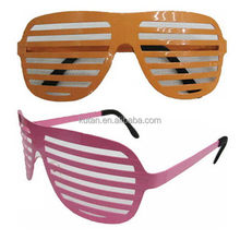 Newest hot sell led glowing shutter shades sunglasses