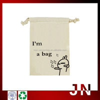 Canvas Drawstring Shopping Bags, Handmade Cotton Fabric Shopping Bag