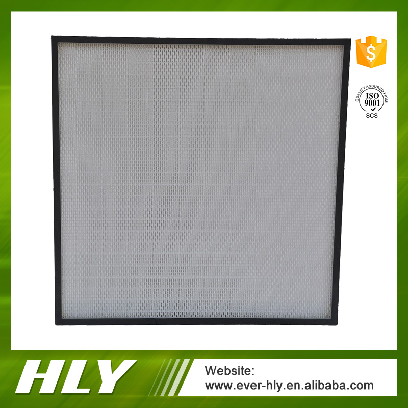 Low Resistance Mini-Pleat H13 HEPA Filter For Air Cleaning
