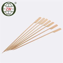 High quality Disposable flat flexible cocktail seafood heart shape special marshmallow salad cocktail bambo sticks skewer china
