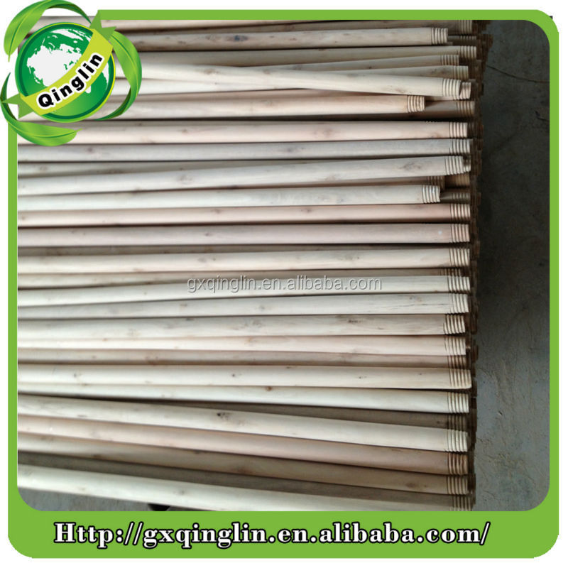 Natural hard wood broom stick, wholesale wooden sticks, wooden push stick