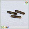 2 holes nickle free embossed brand name logo metal labels for clothing