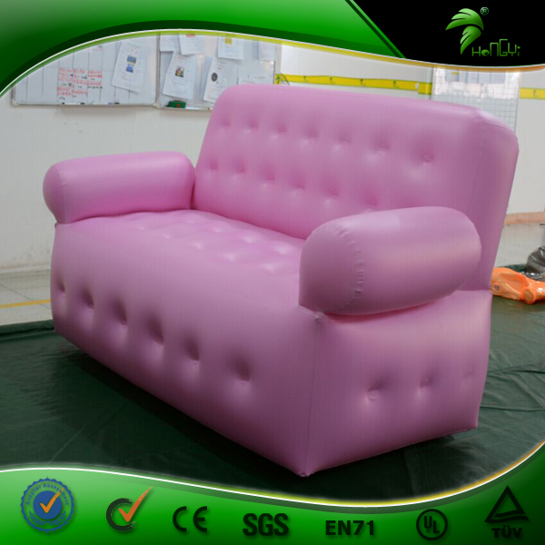 Lovely Pink Color Inflatable Air Sofa Inflatable Home Soft Seat Manufacturer Cheap Inflatable Chair