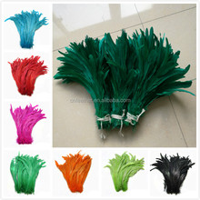 Wholesale 40-45cm Customerized color Rooster tail feather strung for Carnival Decoration