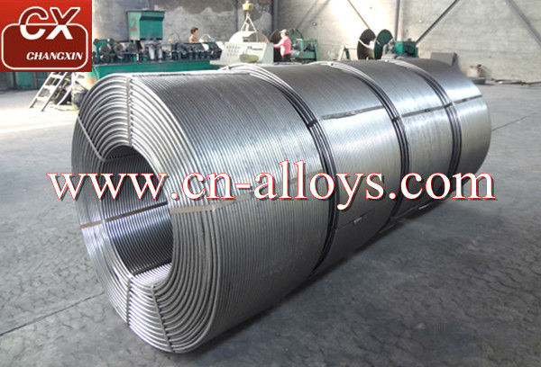 Exporting calcium silicon &Calcium aluminum &CaFe alloy cored wire with 13mm diameter