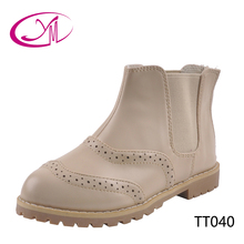 LOW MOQ custom made shoes latest design leather kids boots girls