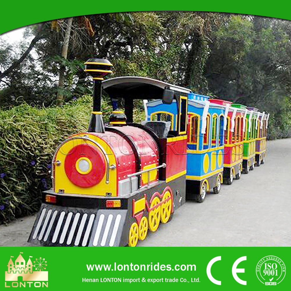 Commercial Electric Ride on Train Tourist Trackless Train Funfair Equipment