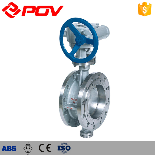 High pressure Flange air release Manual Rigidity Seal Butterfly Valve