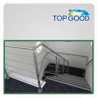 stainless steel hospital glass handrail post