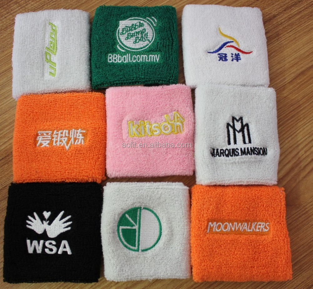 Colorful Sports Wristbands Wrist Sweatbands Wrist Sweat Band, Custom LOGO Wrist Support
