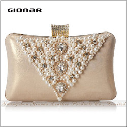 2016 Fashion Trend Money Cellphone Cosmetic Beaded Ladies Evening Bag