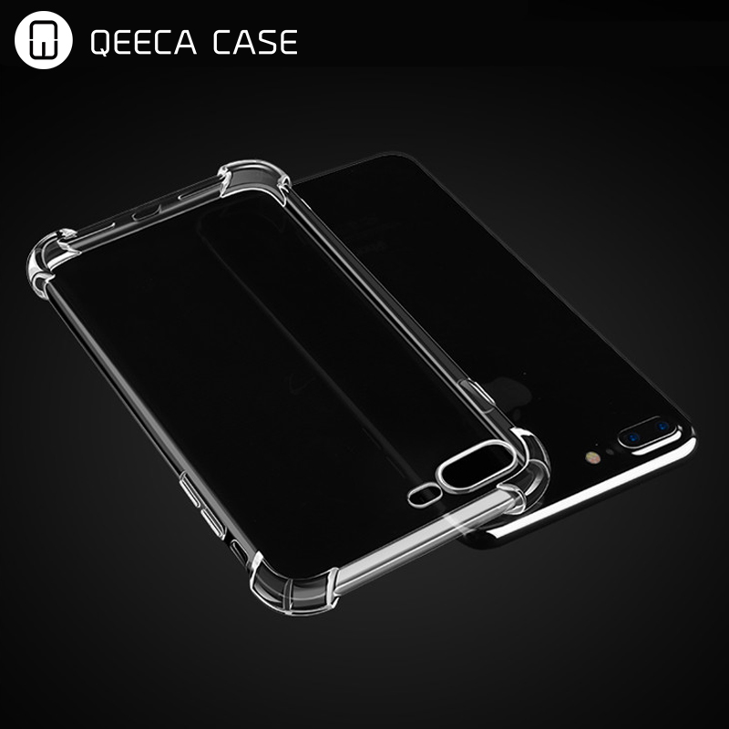 Shockproof soft tpu crystal clear mobile phone case for iphone 8 plus transparent case