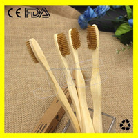 2017 recycled Bamboo ToothBrush in circular handle with packing