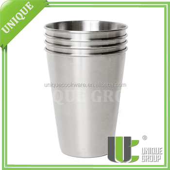 Brushed Stainless Single-Wall Food Canister Tumblers and Pints