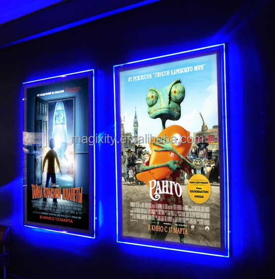Movie theater lighted poster frames