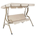 Outdoor Swing Patio Garden Furniture Canopy 2 Seat Hanging Bench