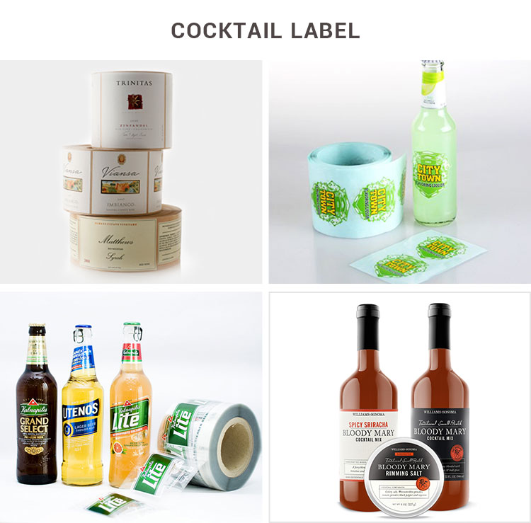Perfect food packaging adhesive label make your food popular bottle sticker
