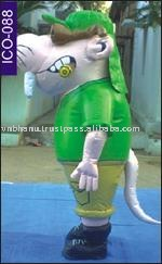 Rat character inflatable costume