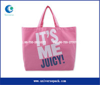 Pink tote promotional shopping bag for Wholesale