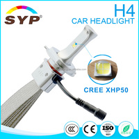 auto parts, Factory LED motorcycle headlights 12v 24v H4 H7 H6 40w high low beam 6000k XHP70 LED HEadlight Bulbs H4
