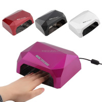 Good 36W ccfl nail dryer led uv lamp 36 watts uv gel machine professional red diamond ccfl led nail lamp sensor 12w ccfl+24w led