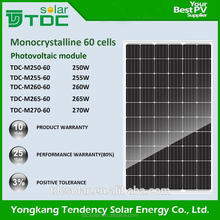 Top quality best price mono 240w solar module pv panels 250w 260w 270w