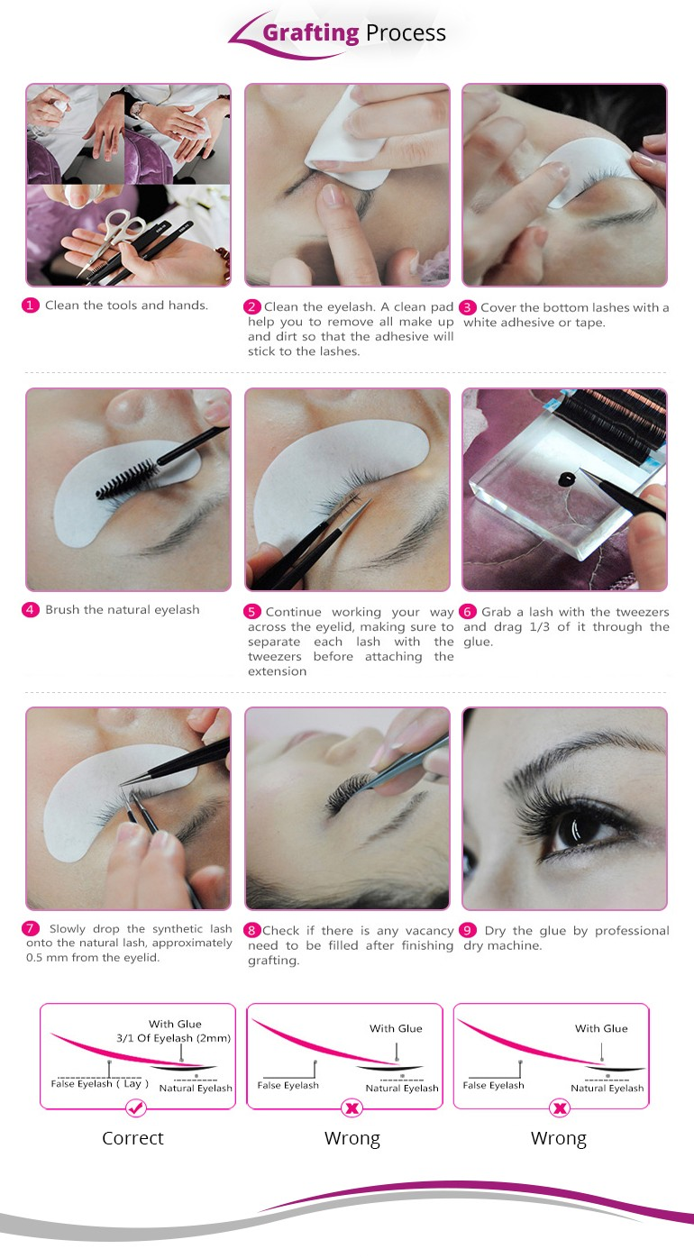 6D volume eyelashes extension