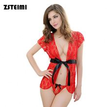 Alibaba Supplier China Tied Bowknot Lace Babydoll Lingerie Adult Women Sex Underwear