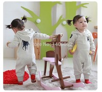 Baby Polo Romper baby One-Piece romper with hat Hooded long sleeve boy&girl polo kids sets summer jumpsuit 2 colors
