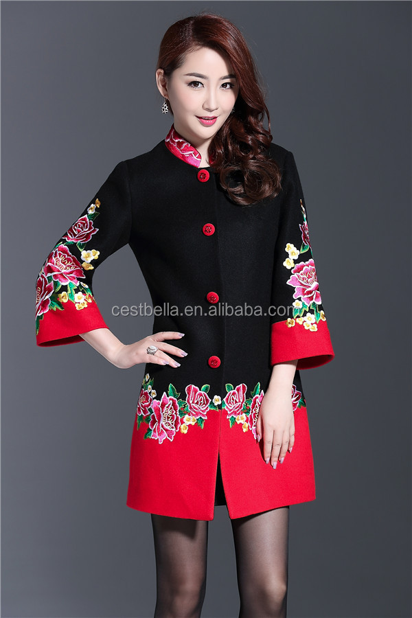 Wholesale new Alibaba products chic long autumn/winter wool coat for married mother