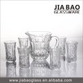 7pcs clear engraved glass drinking set/Glassware set