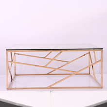 Modern furniture coffee table design glass tea table stainless steel tempered glass coffee table