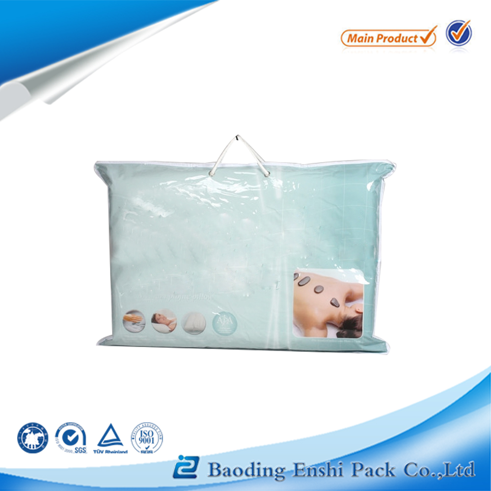best brand customized plastic pvc vinyl pillow bag with zipper