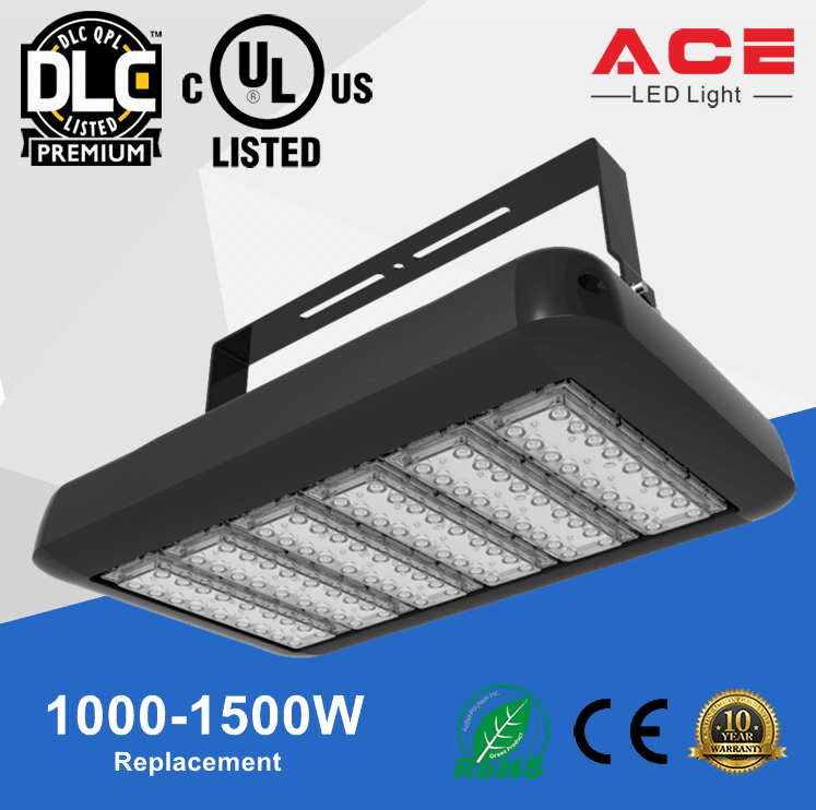 Replace 1000W MH 125lm/w UL DLC Listed stainless steel led flood light
